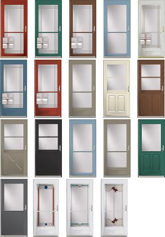 storm door colors